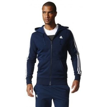 Vêtements Homme Sweats adidas Originals - VESTE À CAPUCHE ESSENTIALS 3 BANDES HOMME Marine