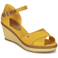 Chaussures Femme Sandales et Nu-pieds Tommy Hilfiger ICONIC ELBA SANDAL BASIC Jaune