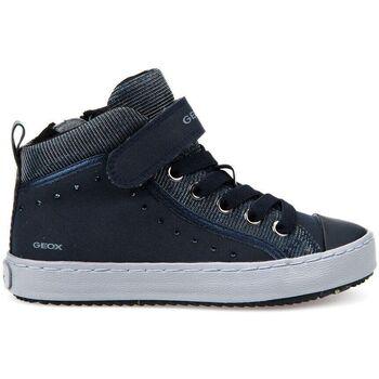 Chaussures Garçon Baskets montantes Geox j744gd bleu