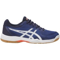 Chaussures Homme Baskets basses Asics Geltask Blanc-Orange-Bleu marine