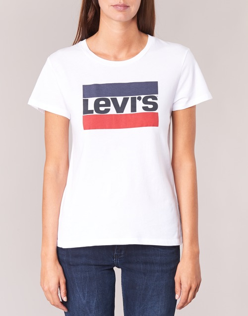 The shirts Femme Blanc Manches T Courtes Levi's Tee Perfect mN8nvw0