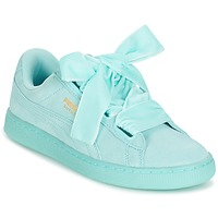Chaussures Femme Baskets basses Puma SUEDE HEART RESET WN'S Bleu / Pastel
