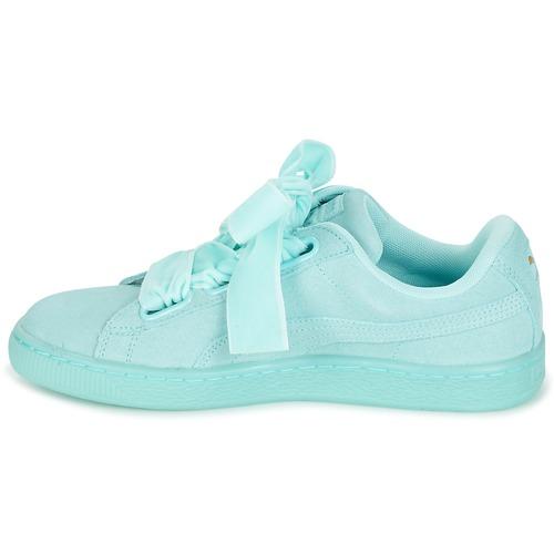 Basses Reset Heart Baskets Puma Wn's Chaussures Femme BleuPastel Suede EHe2YWD9I