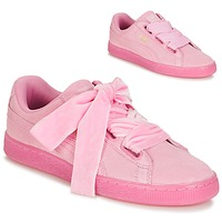 Chaussures Femme Baskets basses Puma WNS SUEDE HEART RESET.PINK Rose