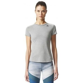Vêtements Femme T-shirts manches courtes adidas Originals T-SHIRT MOULANT FEMME MULTISPORTS GRIS PRIME MIX Gris