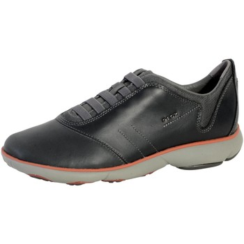 Chaussures Homme Baskets basses Geox Basket  Nebula Anthracite Noir