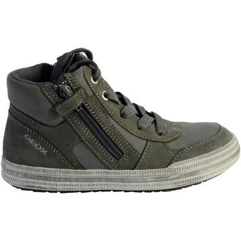 Chaussures Garçon Baskets montantes Geox Basket  Enfant Elvis B  J64A4B 0BCSE C1318 Grey /LT Grey Gris