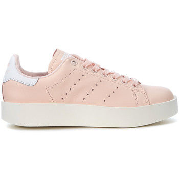 Chaussures Baskets basses adidas Originals Basket  Stan Smith en peau rose Rose