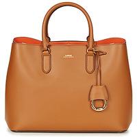Sacs Femme Sacs porté main Lauren Ralph Lauren DRYDEN MARCY TOTE Cognac / Orange