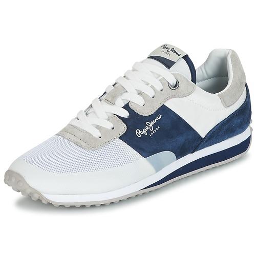 Pepe jeans GARRET SAILOR Blanc   bleu - Chaussures Baskets basses Homme  WNR775MN - destrainspourtous.fr 58f0b00b1a9b