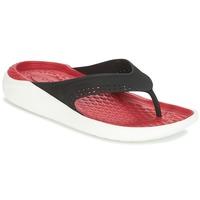 Chaussures Tongs Crocs LITERIDE FLIP Noir / Rouge