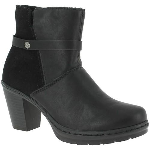 Rieker y1551 noir - Chaussures Bottine Femme