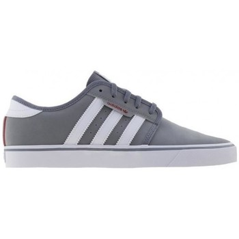 Chaussures Homme Baskets basses adidas Originals Chaussures  Seeley - Grey / Footwear White / Scarlet Gris