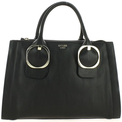Sacs Femme Sacs porté main Guess Sac à main  Money Large Society Noir Noir
