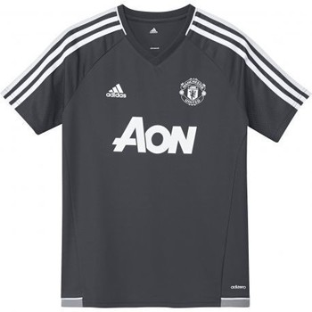 Vêtements Garçon T-shirts manches courtes adidas Originals FOOTBALL - Maillot entraînement junior Manchester United gris n Gris anthracite