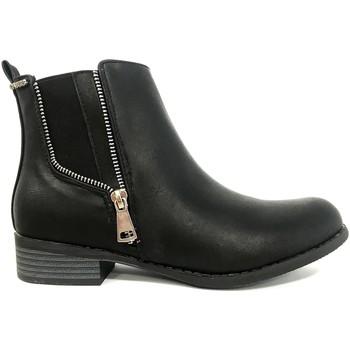 Chaussures Femme Boots Cassis Côte D'azur LUTY  Boots Noir a talons Noir