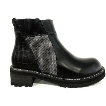 Chaussures Femme Boots Cassis Côte D'azur Noe Bottines Vernis Noir Noir