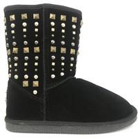 Chaussures Femme Bottes de neige Ilario Ferucci Bottines Eglio cuir Noir Noir
