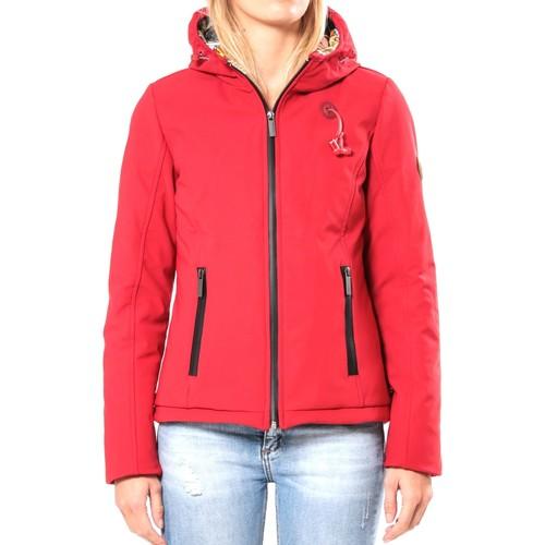 Vêtements Femme Blousons 80DB Original Blouson ML Capuche - Ecouteurs inclus 80DB Sally Deep Red Rouge