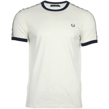 Vêtements Homme T-shirts manches courtes Fred Perry Taped Ringer T-shirt Snow White blanc