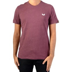 Vêtements Homme T-shirts manches courtes Kaporal Tee Shirt  Jikoo Wine Melanged Rouge