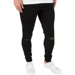 Vêtements Homme Jeans skinny Gym King Homme Spray On Denim Jeans Distressed, Noir noir