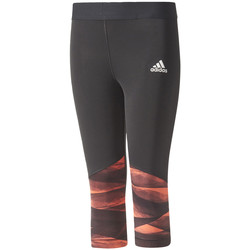Vêtements Fille Leggings adidas Performance Training Wrapping 3/4 Tights Jr Black
