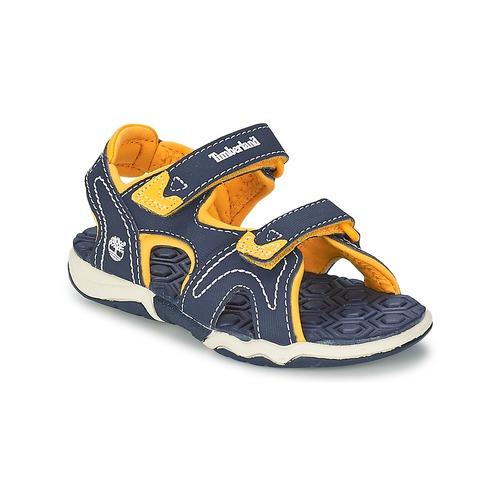 Chaussures Enfant Sandales sport Timberland ADVENTURE SEEKER 2-STRAP SANDAL Bleu / Jaune