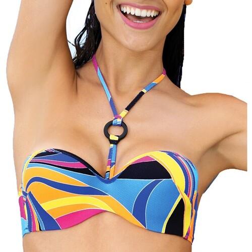 Vêtements Femme Maillots de bain séparables Antigel Bain Haut de maillot La sporty tropique Multicolore