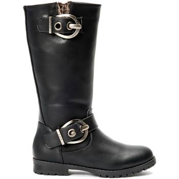 Chaussures Femme Bottes ville La Vitrine De La Mode Les P'tites Bombes  Botte 4-Gaelle Noir Noir