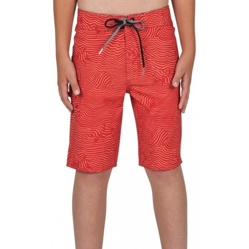 Vêtements Garçon Shorts / Bermudas Volcom Boardshort  Magnetic Stone - Toffee Rouge