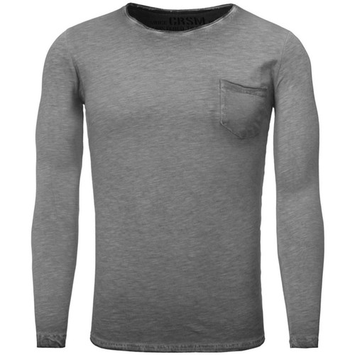 Vêtements Homme T-shirts manches longues Carisma T shirt manche longue mode T-shirt 3174 gris fonce Gris