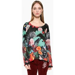 Vêtements Femme Tops / Blouses Desigual Pull Hawai Noir 17WWJF74 38