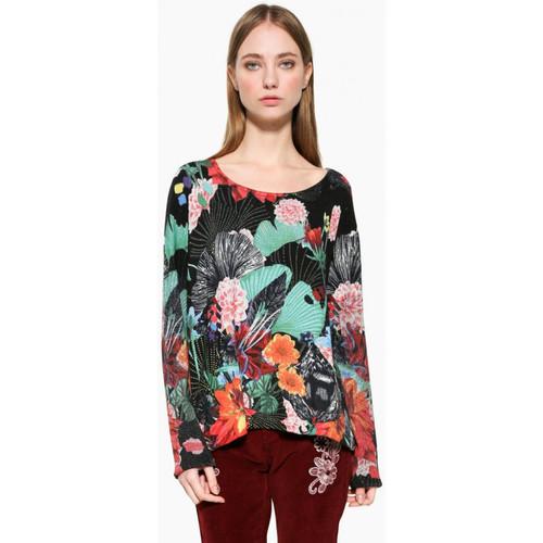 Vêtements Femme Tops / Blouses Desigual Pull Hawai Noir 17WWJF74
