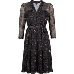 Vêtements Femme Robes courtes King Louie Robe Emmy Aurora Noir 02112