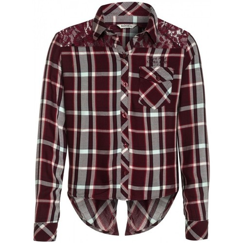 Vêtements Fille Chemises / Chemisiers Kaporal Chemisier Fille Auric Bordeaux Rouge