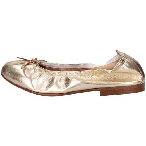 Chaussures Fille Ballerines / babies Papanatas 9127 ORO Doré