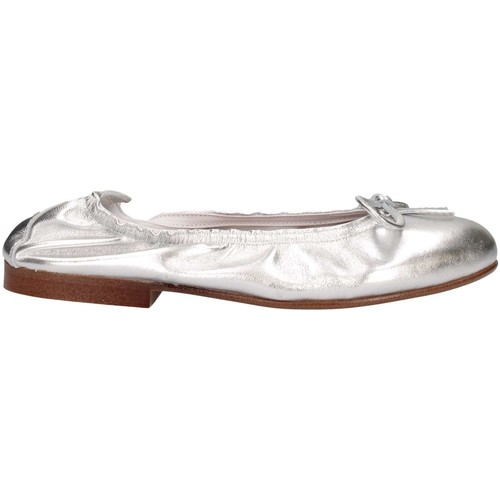 Chaussures Fille Ballerines / babies Papanatas 9127 ARGENTO argent