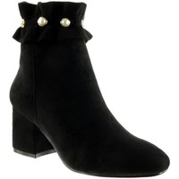 Chaussures Femme Bottines Angkorly - Bottine cavalier - perle Noir