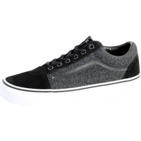 Chaussures Homme Baskets basses Vans Basket  Old Skool Suede et Suiting Black Noir