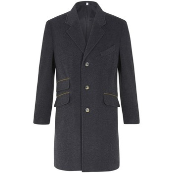 Vêtements Homme Manteaux De La Creme Classic- Men`s Gris Lana Cachemire Hiver Slim Fit Luxury Manteux Grey
