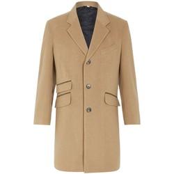Vêtements Homme Manteaux De La Creme Classic- Men`s CAMEL Lana Cachemire Hiver Slim Fit Luxury Manteu BEIGE