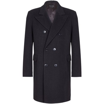 Vêtements Homme Manteaux De La Creme Classic- Men`s Noir Lana Cachemire Hiver Slim Fit Luxury Manteux Black