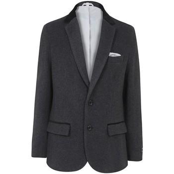 Vêtements Parkas De La Creme Classic- Men`s Gris Lana Cachemire Hiver Slim Fit Luxury Veste Grey
