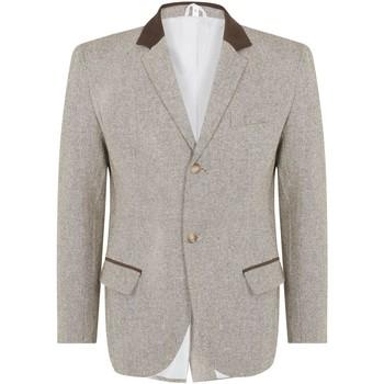 Vêtements Homme Vestes / Blazers De La Creme Classic- Men`s Brune Lana  Hiver Slim Fit Luxury Veste Brown