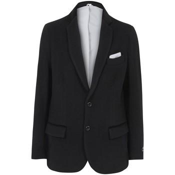 Vêtements Homme Vestes / Blazers De La Creme Classic- Men`s Noir Lana Cachemire Hiver Slim Fit Luxury Veste Black