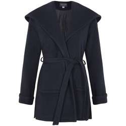 Vêtements Femme Manteaux De La Creme - Noir Femme Hiver Lana Cachemire Wrap Manteux Blue