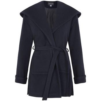 Vêtements Femme Manteaux De La Creme Manteau à capuchon en laine d'hiver Blue