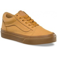 Chaussures Garçon Baskets basses Vans Chaussures  Y Old Skool Vansbuck - Light Gum / Mono Marron