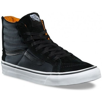 Chaussures Baskets montantes Vans Chaussures  U Sk8-Hi Slim Zip - Boom Boom Black / True White Noir